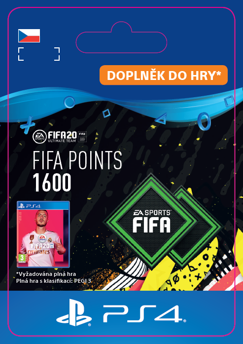 ESD CZ PS4 - FIFA 20 Points 1600