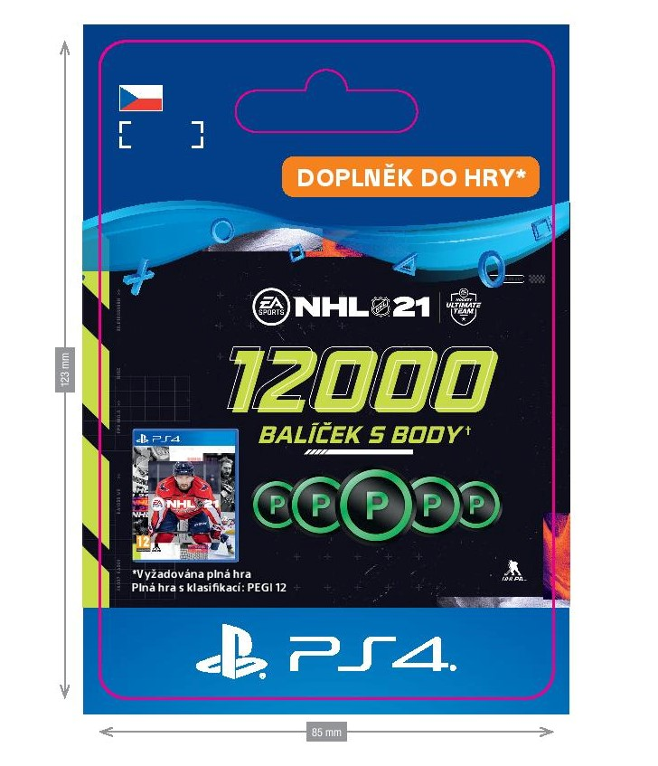 ESD CZ PS4 - NHL 21 – 12000 Points Pack