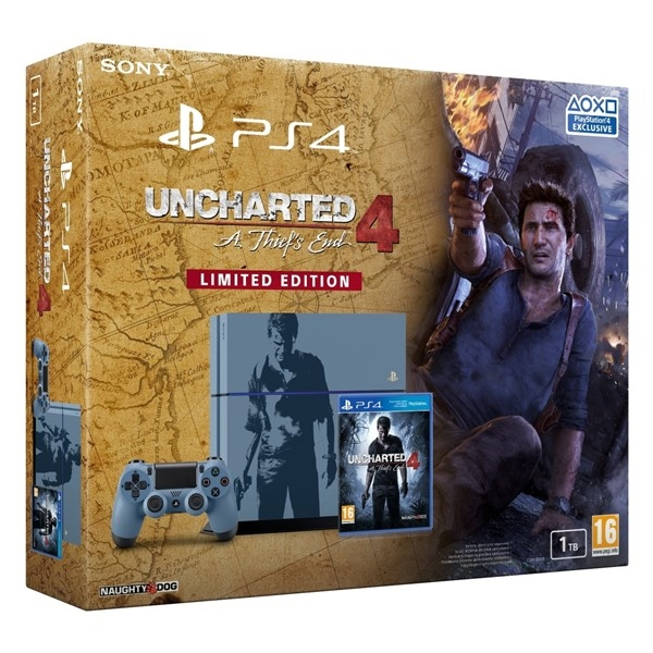 PS4 - Playstation 4 1TB + Uncharted 4 Limitovaná Edice