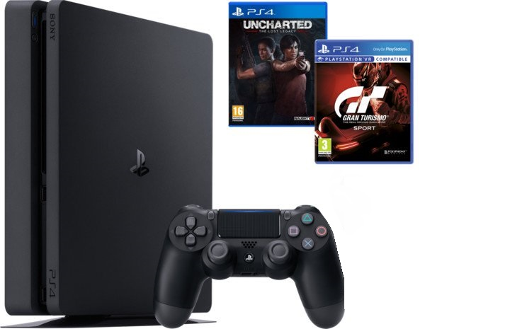 PS4 - Playstation 4 1TB + GTS + Uncharted LL + DS4