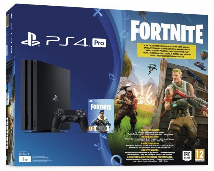 PS4 Pro - Playstation 4 Pro 1TB + voucher Fortnite