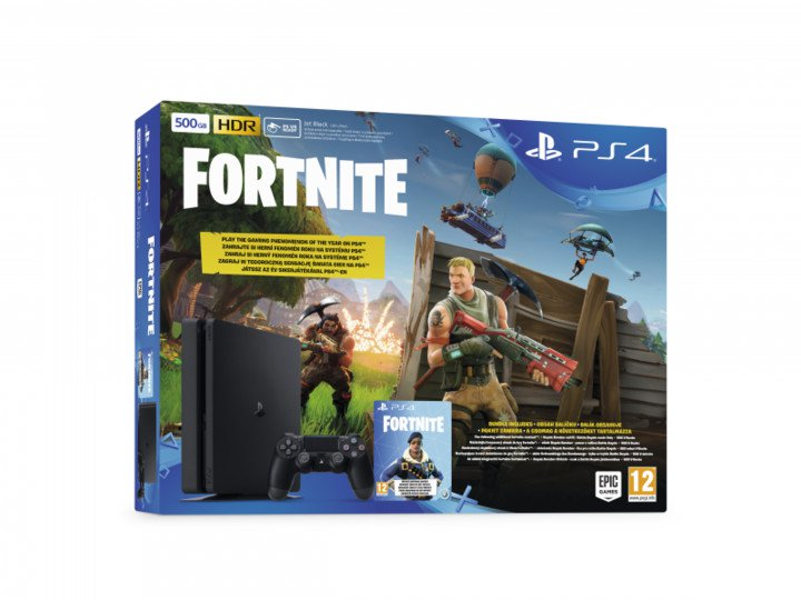 PS4 - Playstation 4 500GB - E Chasiss + Fortnite