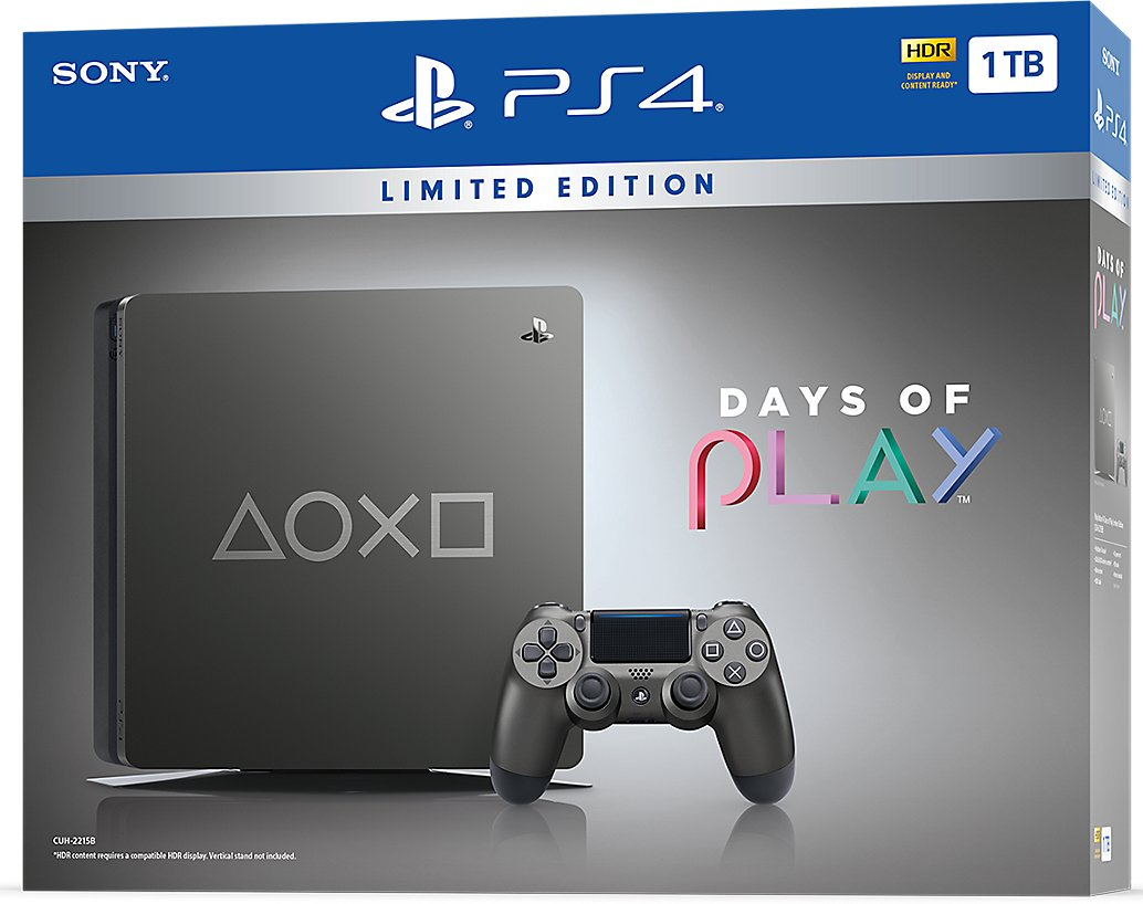 PS4 - Playstation 4 1TB Limitovaná edice Days of Play - F Chasssis (slim)