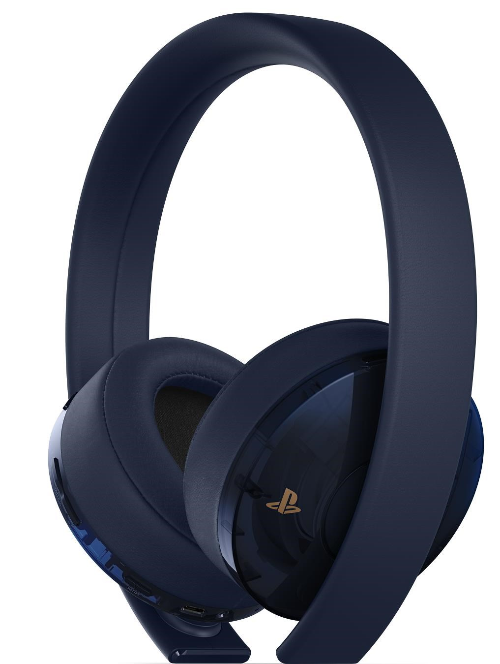 PS4 - Gold/Navy Blue Wireless Headset