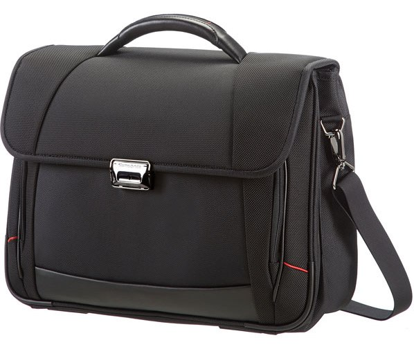 35V*09005 Samsonite Pro DLX4 Briefcase 2 Gussets 16´´ Black
