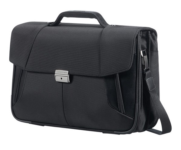 "08N*09010 Samsonite XBR BRIEFCASE 3 GUSSETS 15.6"" Black"