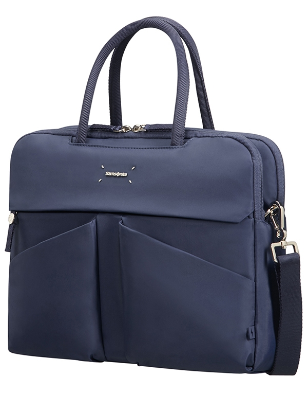 "43N*41001 Samsonite Lady Tech ORGANIZ. BAILHANDLE 14.1"" Dark Blue"