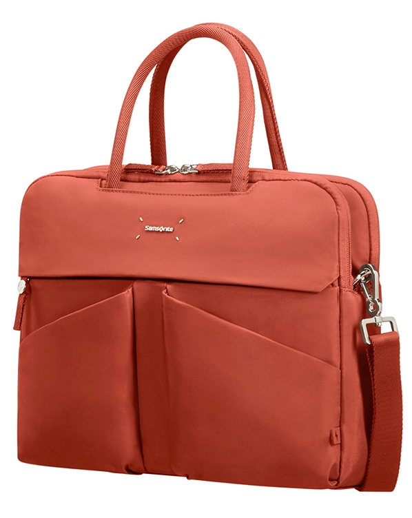 "43N*06001 Samsonite Lady Tech ORGANIZ. BAILHANDLE 14.1"" Rust"