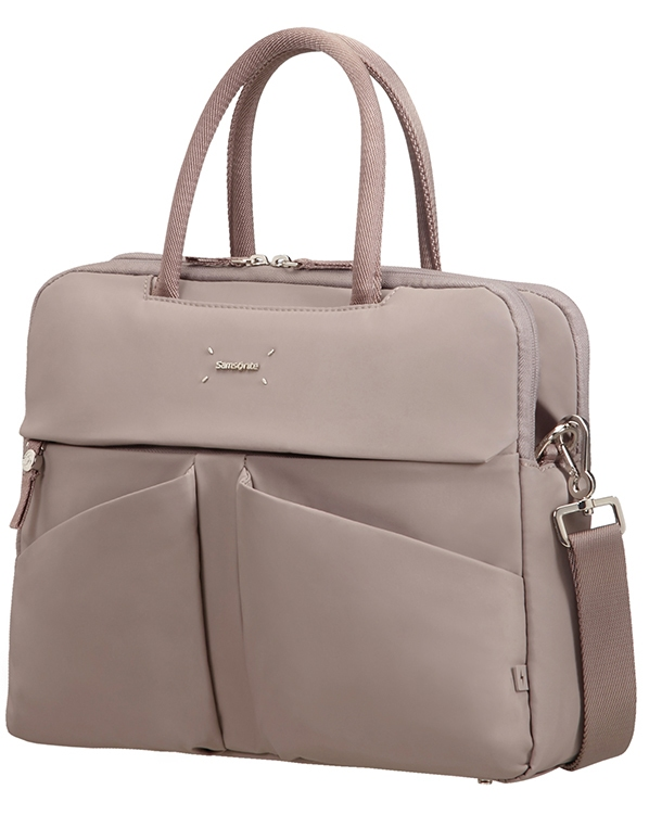 "43N*42001 Samsonite Lady Tech ORGANIZ. BAILHANDLE 14.1"" Smoke"