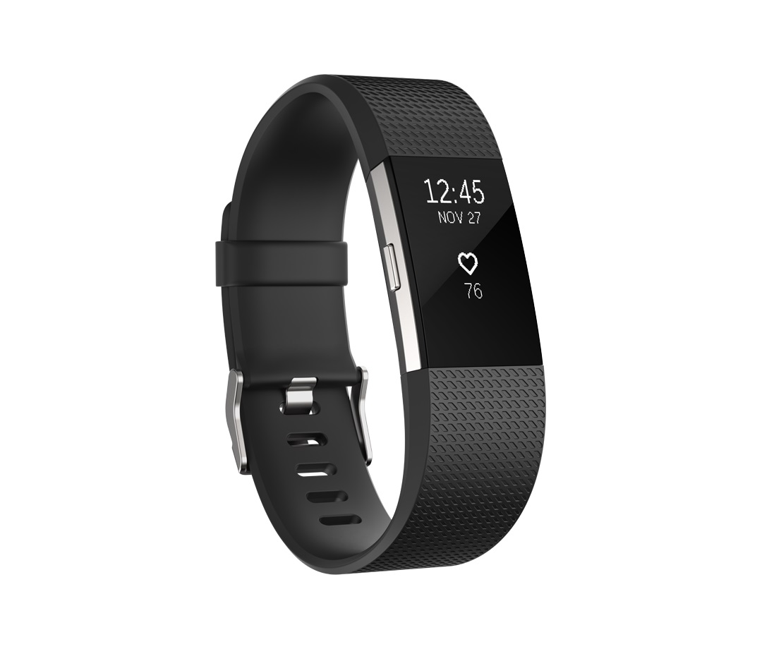 Fitbit Charge 2 Black Silver - Small