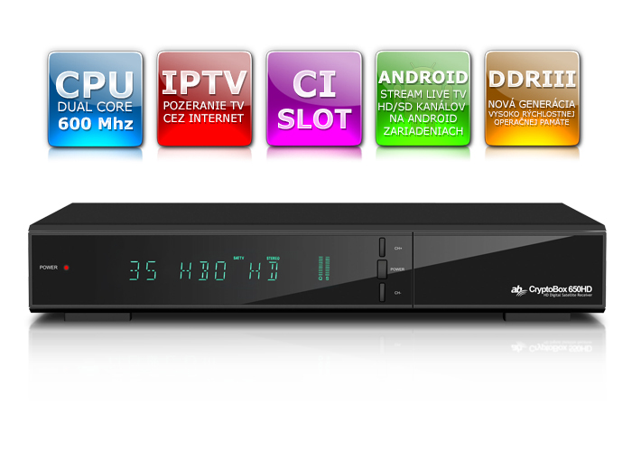 AB Cryptobox 650HD  DVB-C Tuner