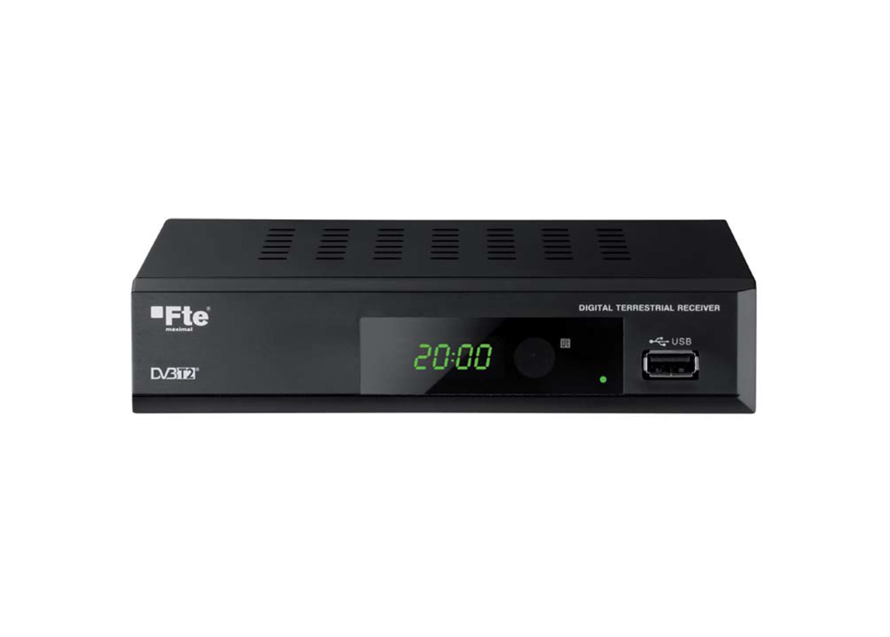 Set-top box FTE MAX T200HD DVB-T2 kodek H.265 HEVC
