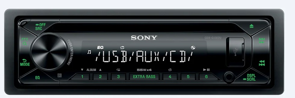 Sony autorádio s CD CDX-G1302, AUX, USB