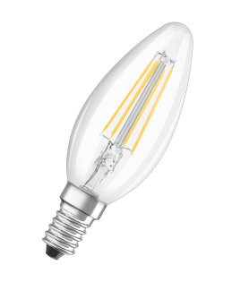 Osram LED žárovka E14  4,0W 2700K 470lm Value Filament B-svíčka