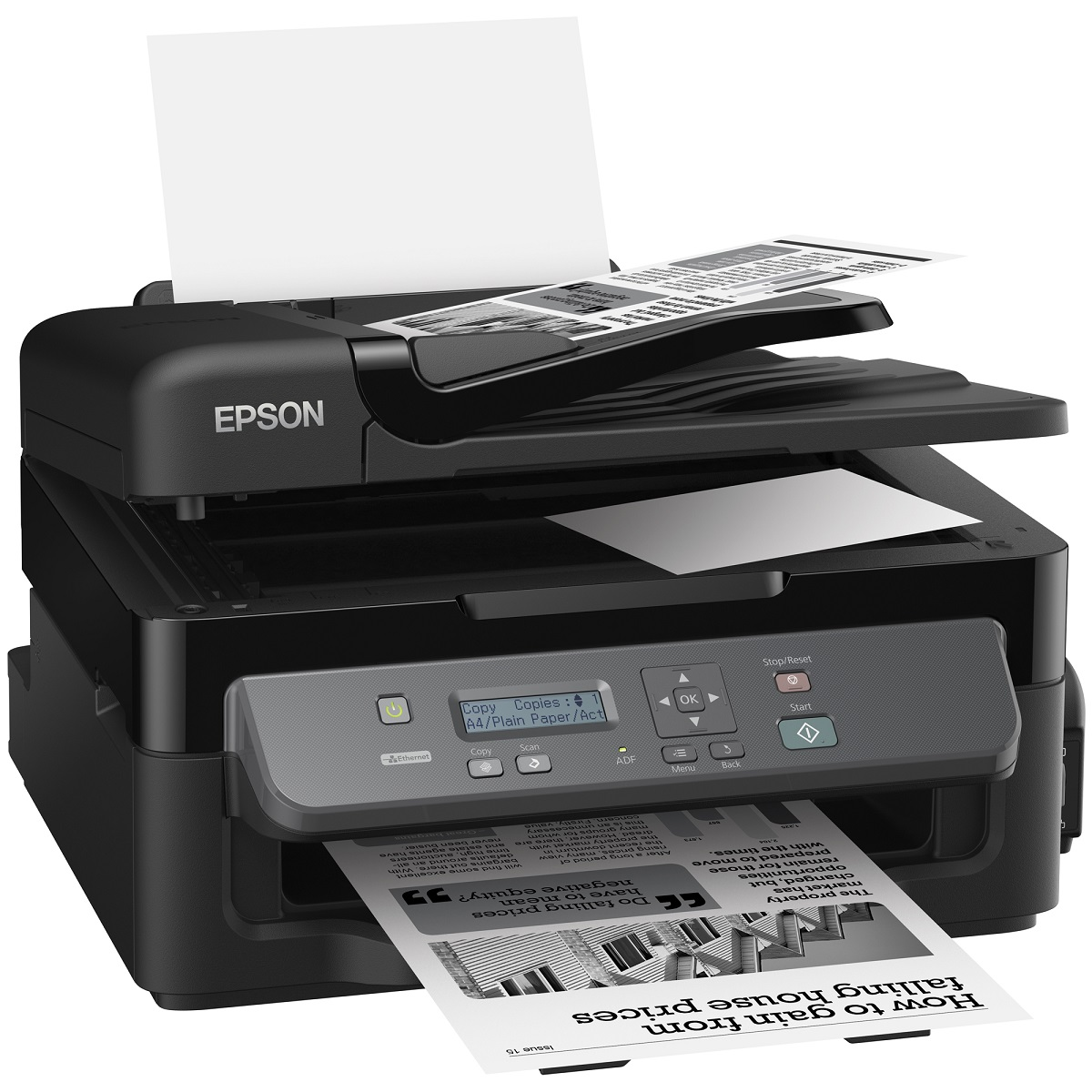 EPSON WorkForce M200, A4, MF, 34 ppm, mono, ITS