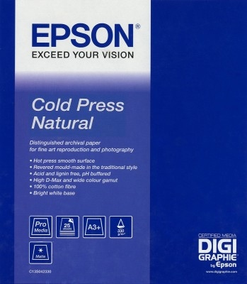 """EPSON Cold Press Natural Paper, roll 44"""" x 15,2m"""