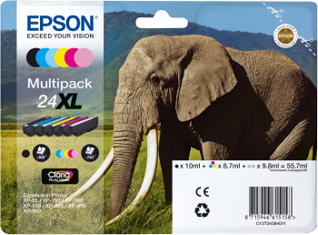 Epson Multipack 6-colours 24XL Claria Photo HD Ink