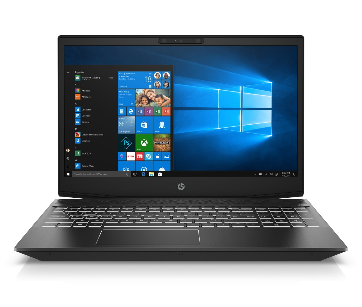 4MJ77EA#BCM HP Power Pavilion 15-cx0018nc FHD i7-8750H/8GB/1TB+128SSD/NV/2RServis/W10-black+white