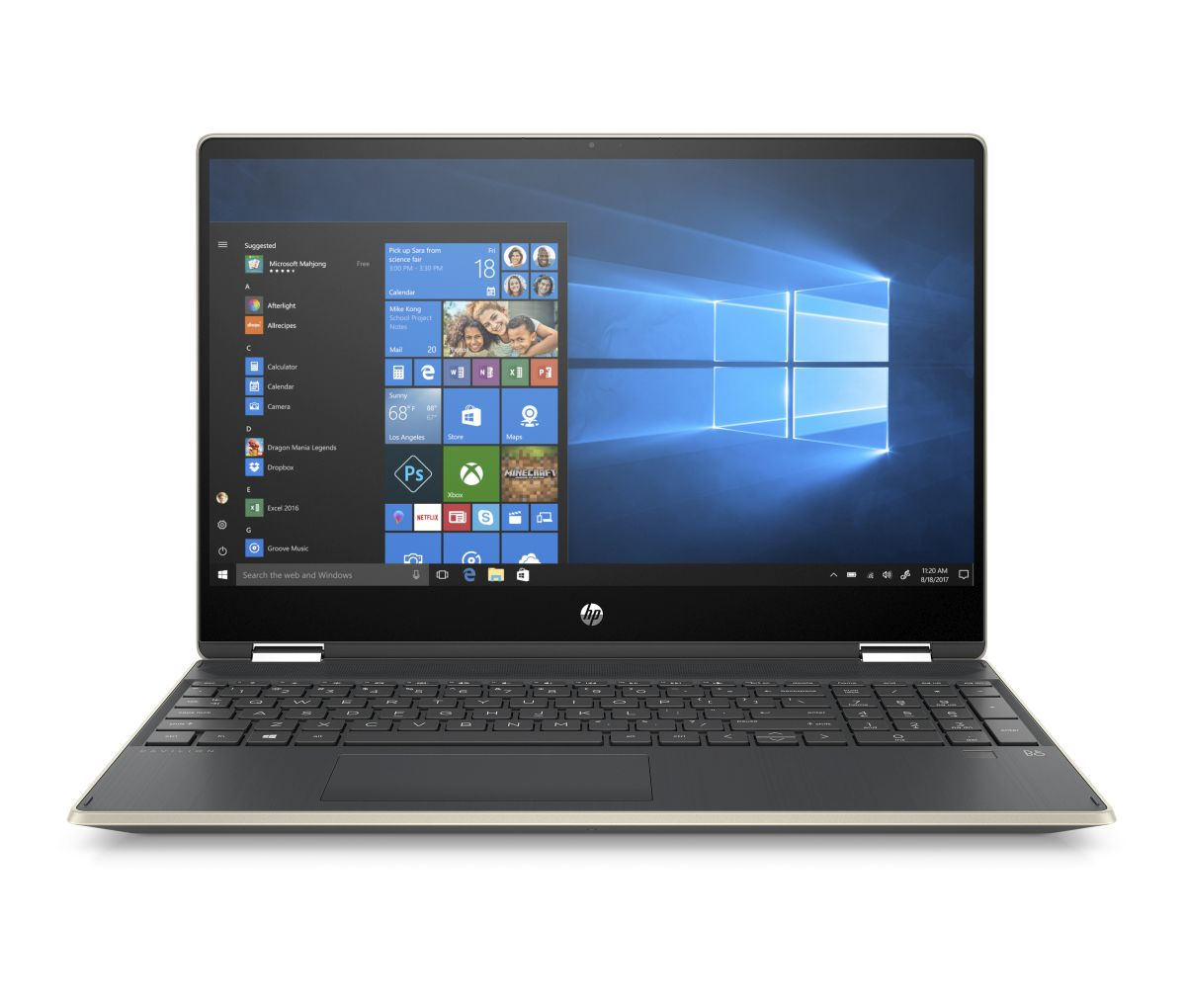 6WK25EA#BCM HP Pavilion x360 15-dq0001nc FHD i3-8145U/4GB/1TB+256SSD/2RServis/W10-gold
