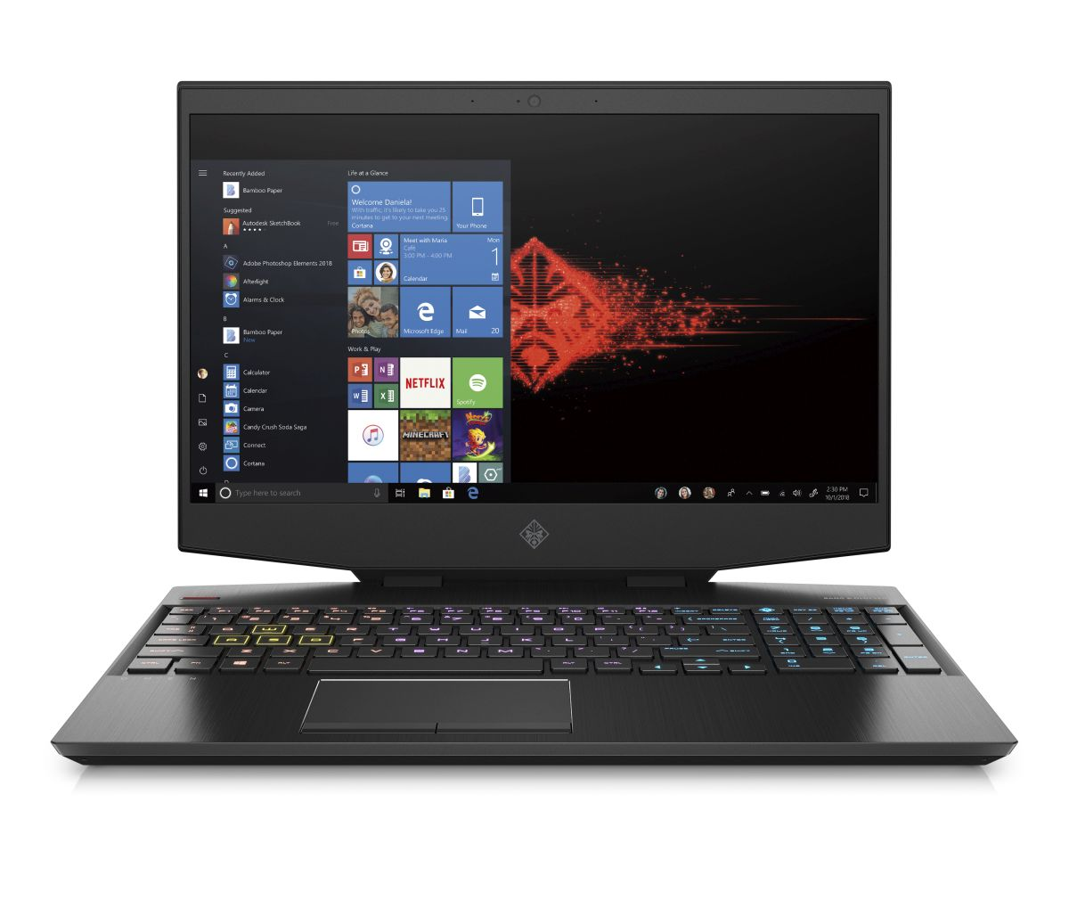 8RS54EA#BCM HP OMEN 15-dh0107nc i7-9750H/32/1+512/NV/W10