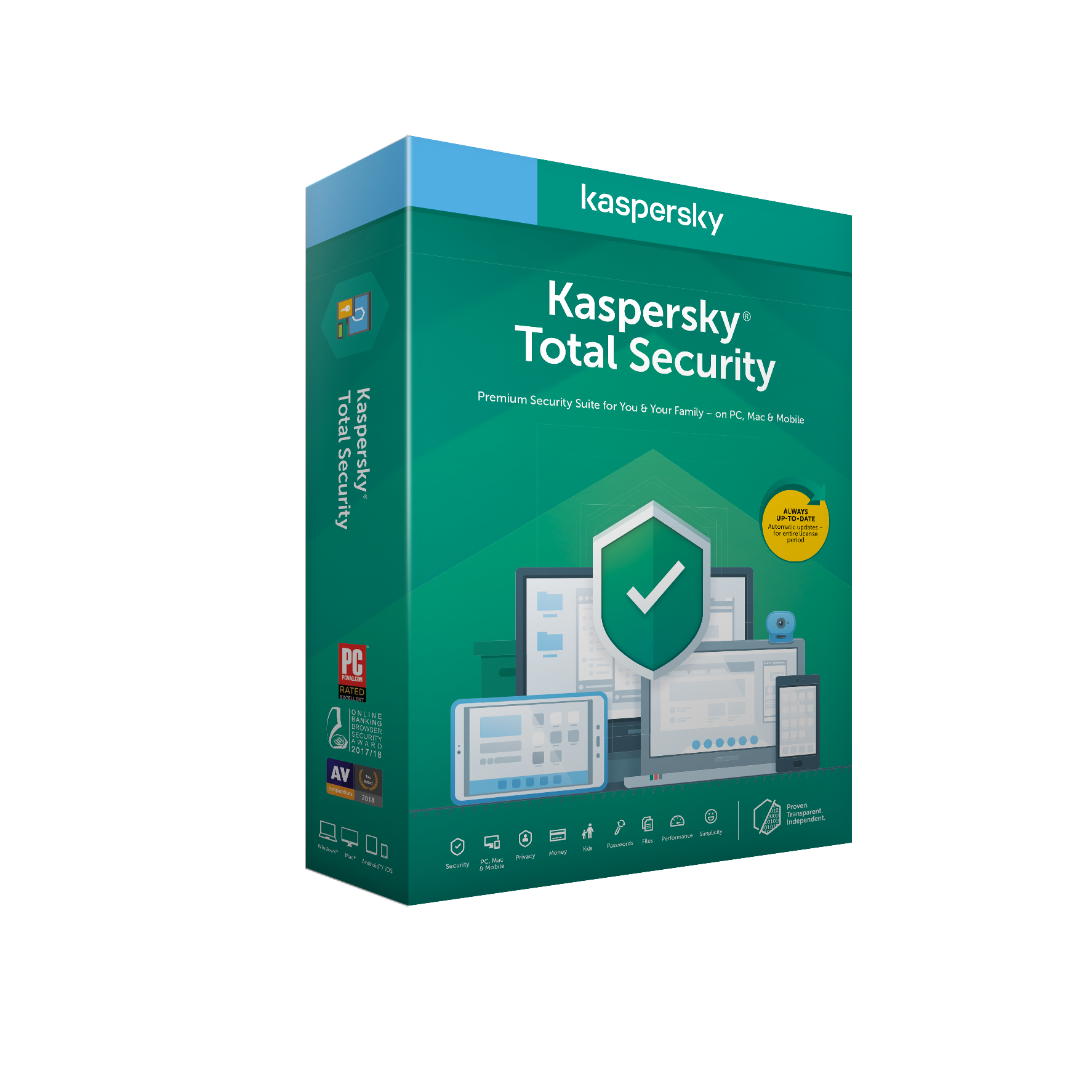 Kaspersky Total Security 2x 2 roky Nová
