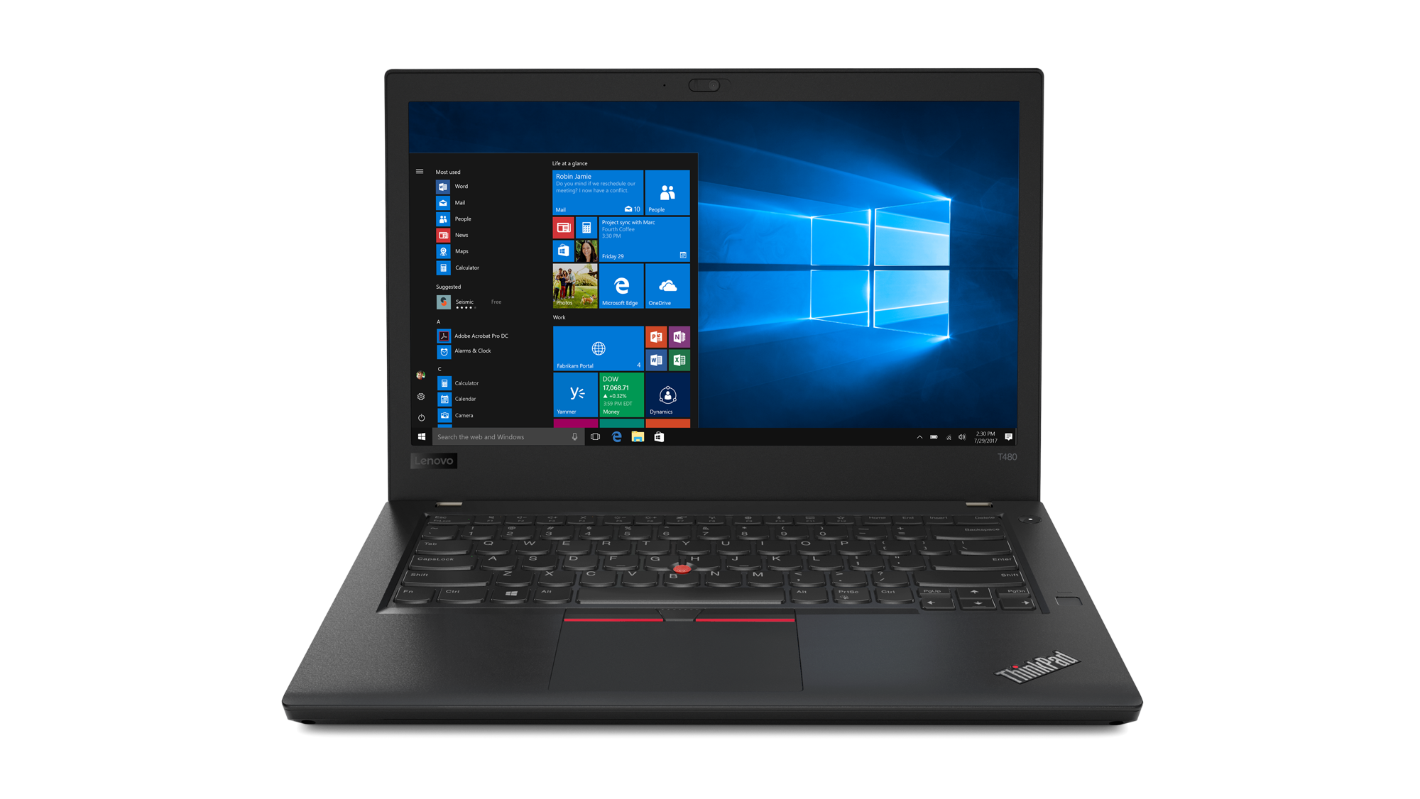 20L50006MC Lenovo Thinkpad T480 14F/i5-8250U/8GB/512/ Intel HD /F/W10P/černý