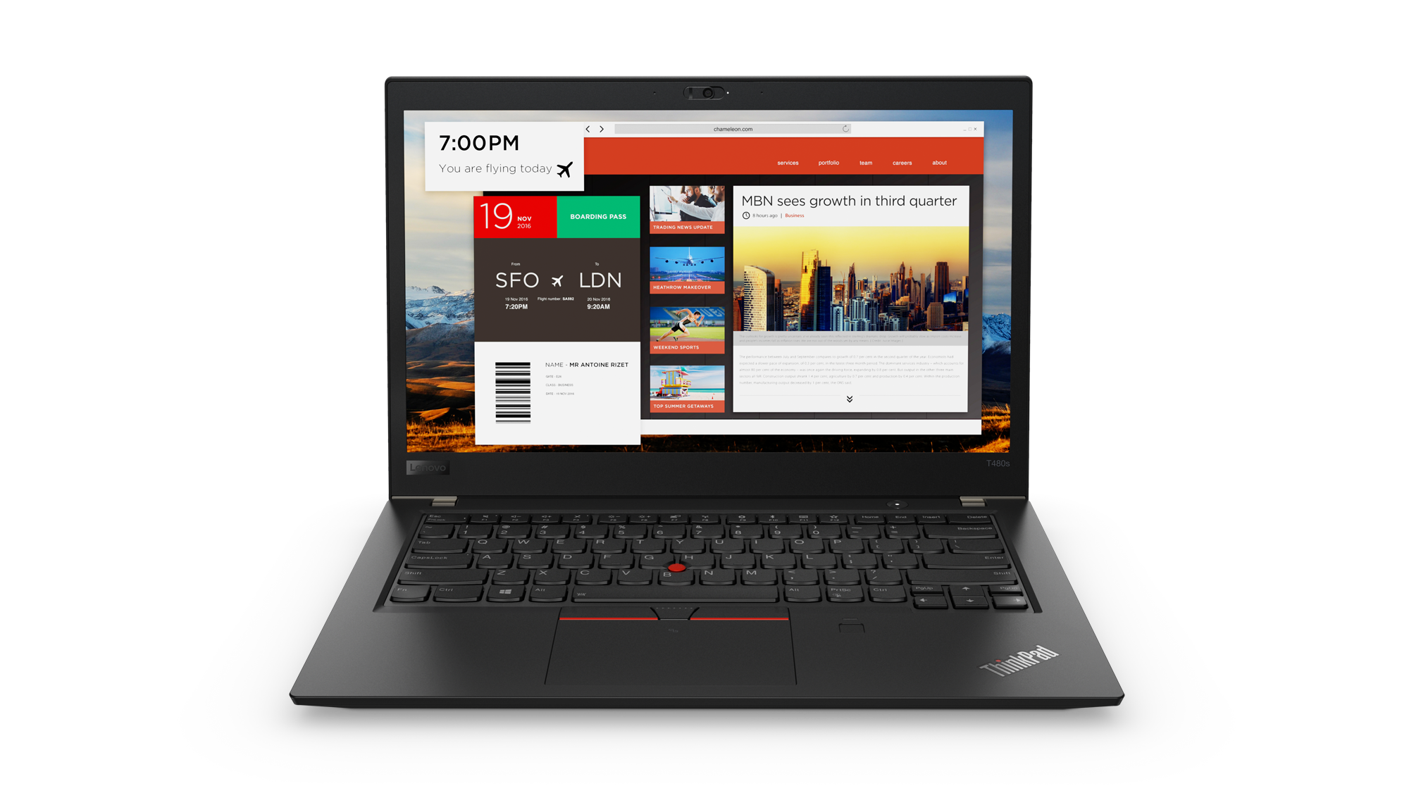 20L7001PMC Lenovo Thinkpad T480s 14F/i7-8550U/8GB/256/ Intel HD /F/W10P/černý