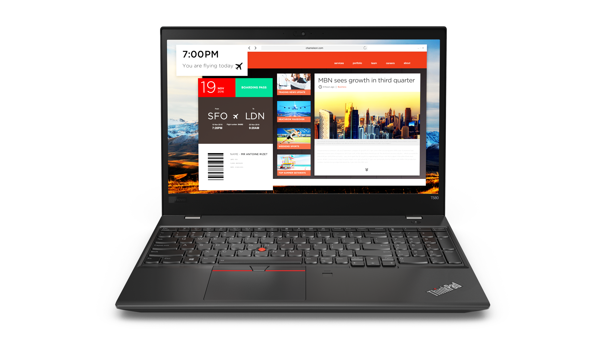 20L90024MC Lenovo Thinkpad T580 15.6FHD/i7-8550U/256SSD/8GB/ Intel HD /4G/W10P/černý