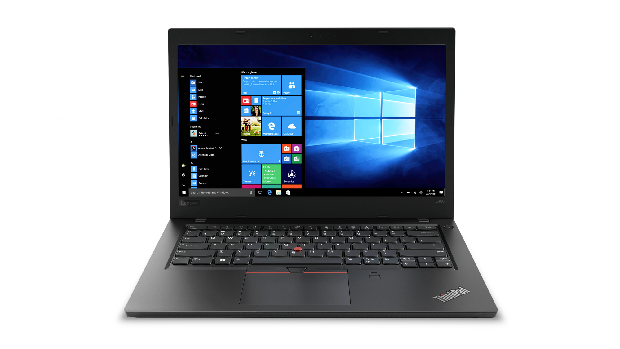 20LS0016MC Lenovo Thinkpad L480 14F/i7-8550U/8GB/256SSD/Intel UHD/W10P/ černý