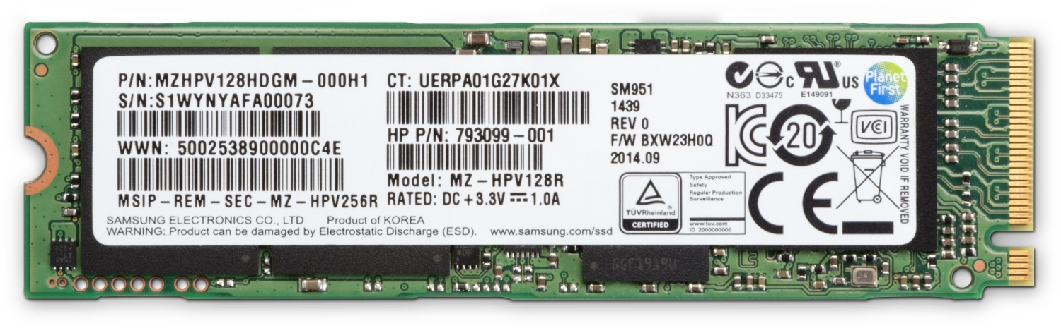HP Z Turbo Drive G2 256GB SSD NVME module