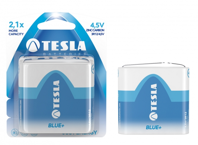 Tesla - 4,5V BLUE+ Zinc carbon , 3R12, BLISTER/1ks
