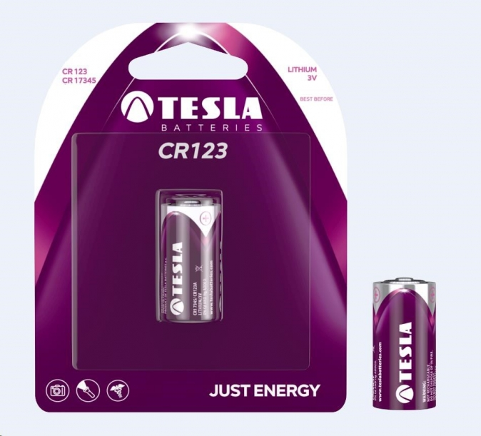 Tesla - CR 123 Lithium baterie 3V, (CR 17345), BLISTER 1 ks