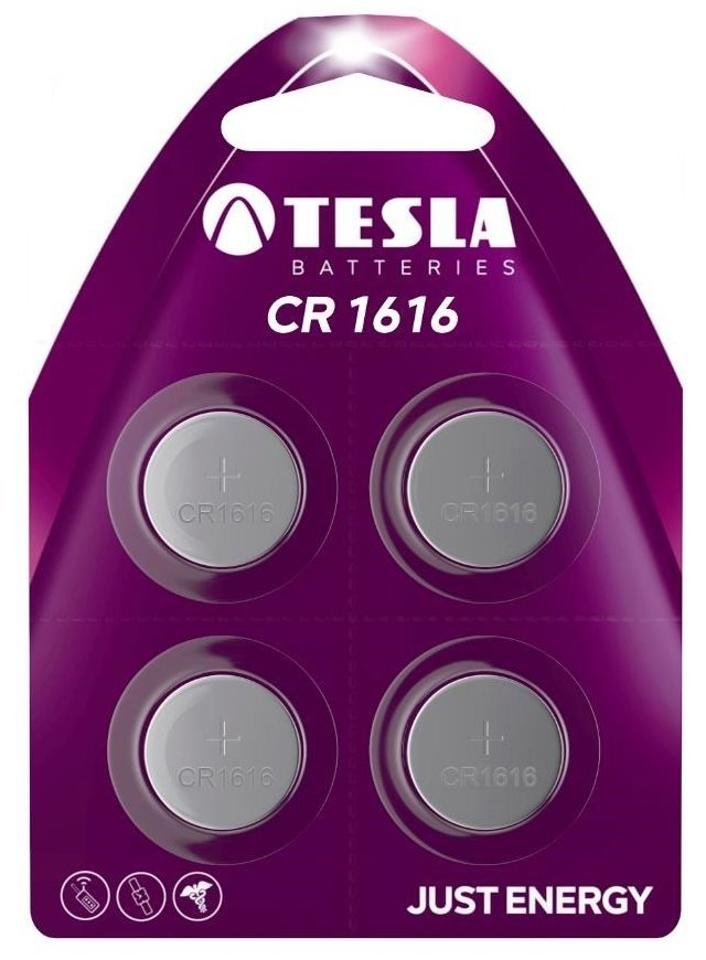 Tesla - CR 1616 Lithium, CR1616, BLISTER/4ks