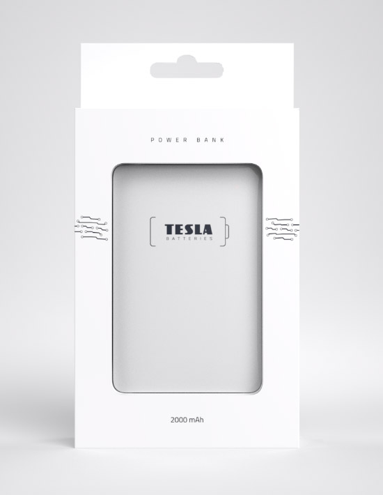 Tesla - Powerbanka PB 2.000 mAh BLUE