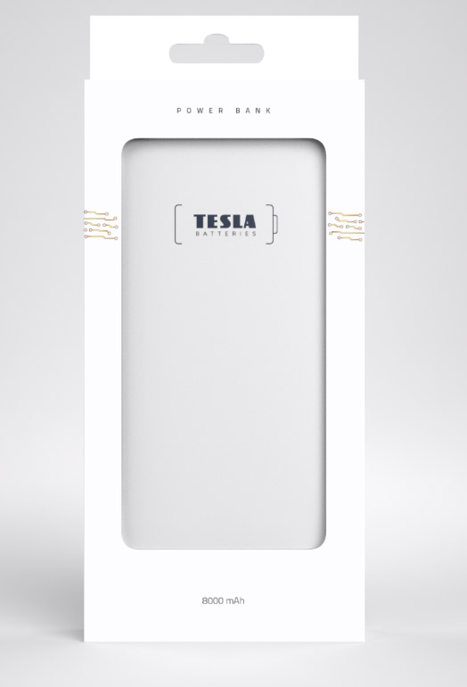 Tesla - Powerbanka PB 8.000 mAh GOLD