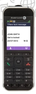 ALCATEL-LUCENT 8242 DECT Handset, contains battery and Belt clip