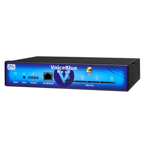 2N VoiceBlue Next, IP GSM brána, 4xUMTS (Telit), LCR, SMS, PoE, ME