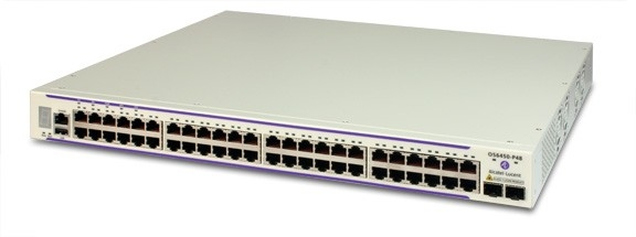 ALCATEL-LUCENT OS6250-P48 - Two 24 RJ-45 ports configurable to 10/100 B aseT, 4 RJ45/SFP combo ports