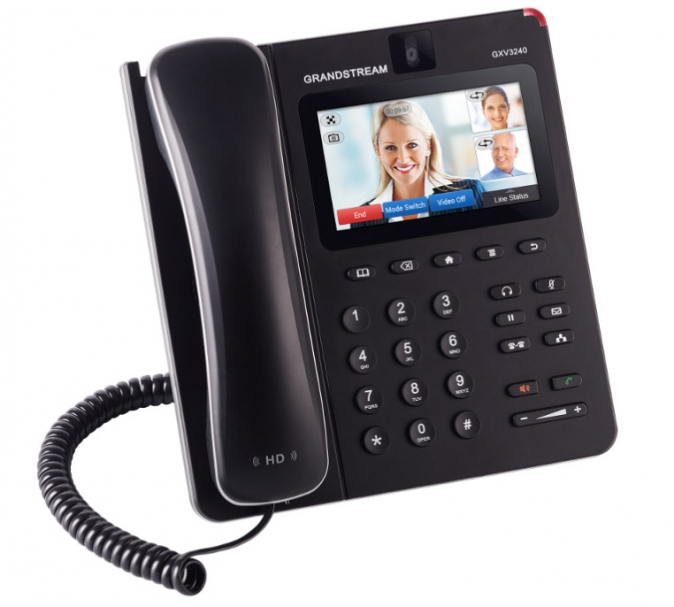 "Grandstream - IP video telefon, Android, 4,3"" LCD, 6x SIP účtů, 2x RJ45, USB, WIFI, Bluetooth, PoE"