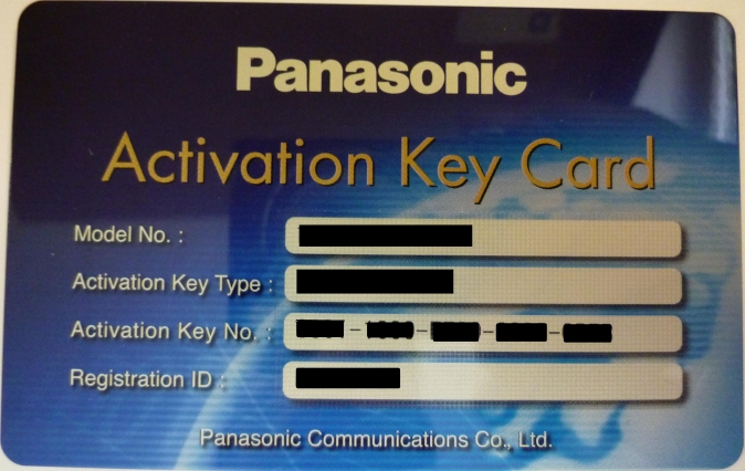 Panasonic - licence Communication Assistant Supervisor ICD skupiny-pro 1 uživ, pro KX-NS500/700/1000