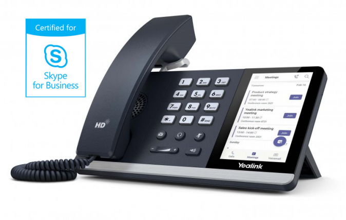 "Yealink - IP telefon pro Skype for Business, 4,3"" dotykový LCD, USB, GigE"