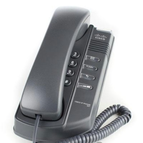 Cisco - IP telefon, SIP, 1 IP linka, 1x Eth RJ45, bez LCD