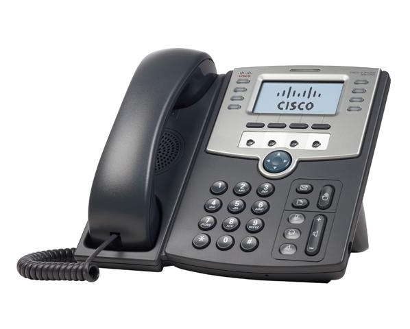 Cisco - IP telefon, SIP, 12 IP linky, 2x Eth RJ45, POE, LCD