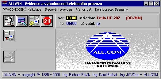 ALLWIN - tarifikační program upgrade (Alcatel, Panasonic)
