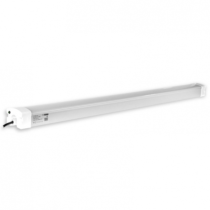 Tesla - Tri-proof LED light 1200mm, 40W, 230V, 3500lm, 5000K, IP65, emergency