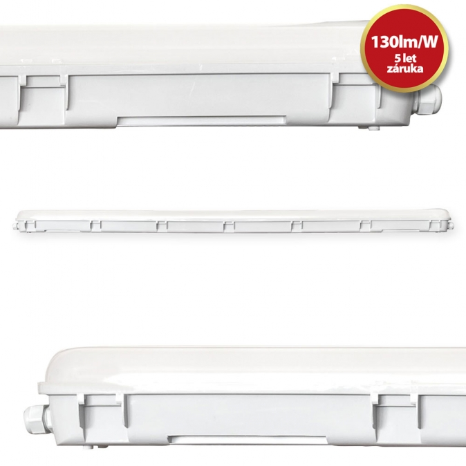 Tesla - Tri-proof LED light 1500mm, 60W, 7800lm, 4000K, IP66, CRI80, 230V