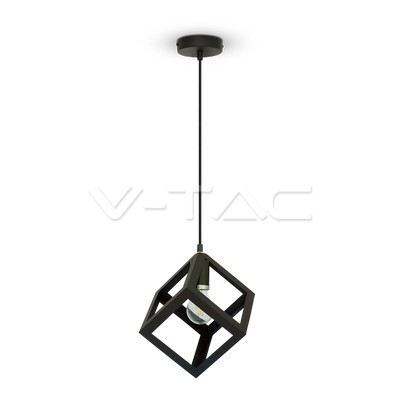 V-TAC lustr Geometric Pendant Light Matt Black Square
