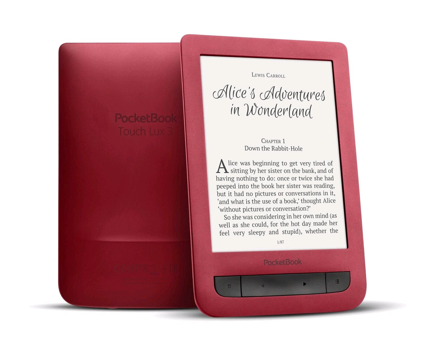 Pocketbook 626 Touch Lux 3, Carta E-Ink, Ruby red