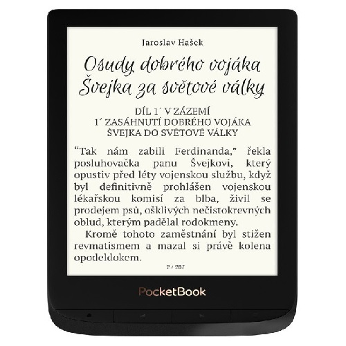 Pocketbook 627 Touch Lux 4, Carta E-Ink, Obsidian black